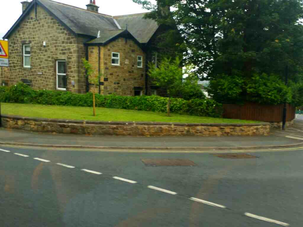 Junction of Coach Road and Hexham Rd Throckley on a 685 Carlisle Newcastle bus