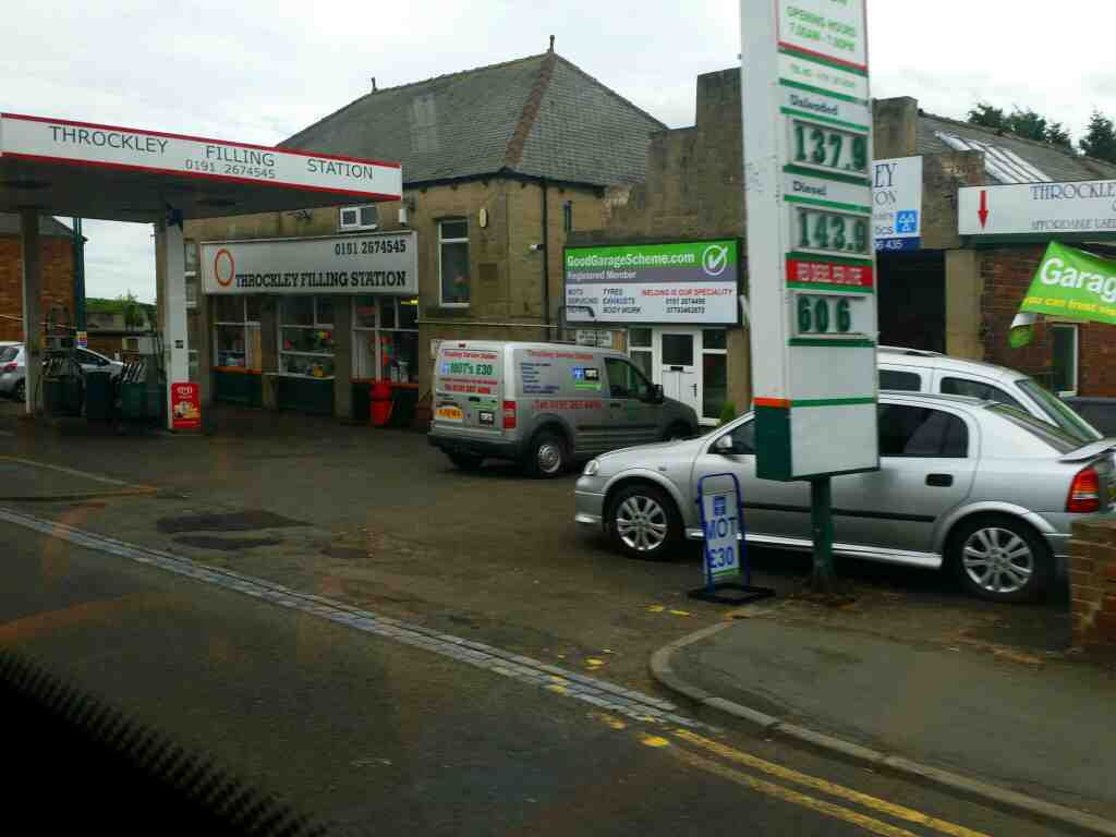 Passes Throckley Filling Station Hexham Rd on a 685 Carlisle Newcastle bus