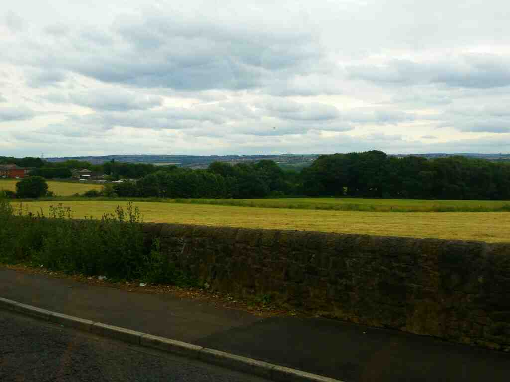 Good views across the Tyne Valley from Hexham Rd at Walbottle Campus on a 685 Carlisle Newcastle bus