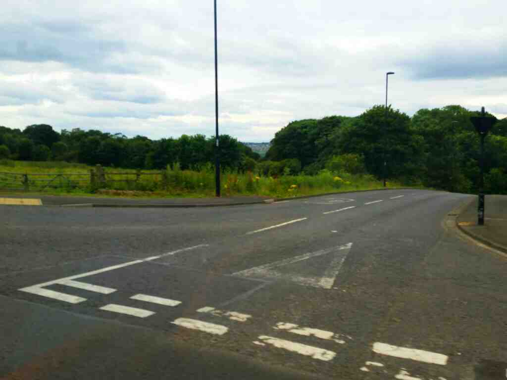 Junction of Walbottle Road and Hawthorne Terrace Newcastle on a 685 Carlisle Newcastle bus