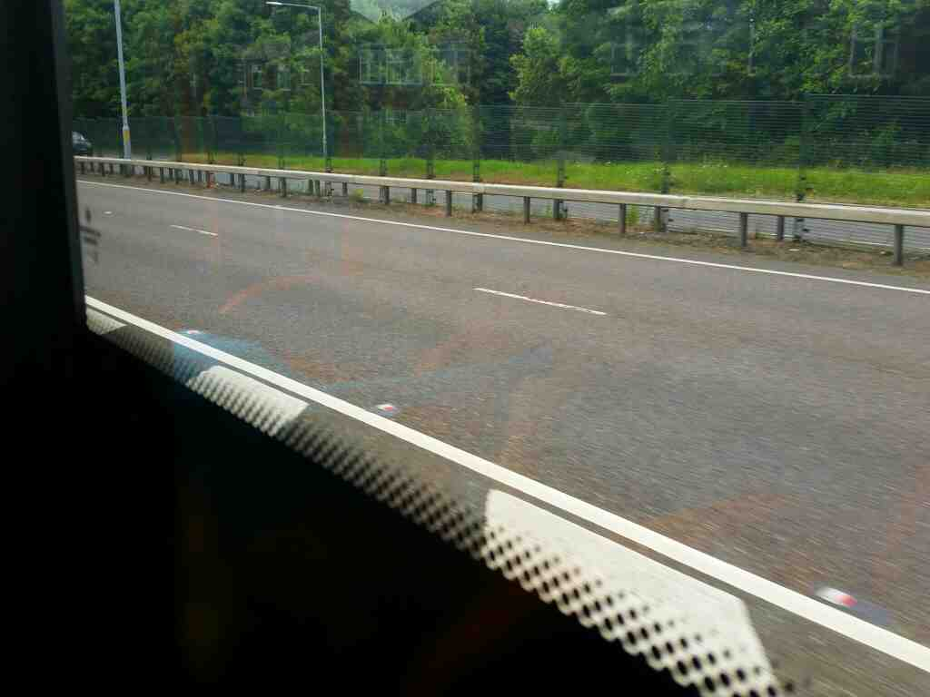 Joining the A69 on a 685 Carlisle Newcastle bus
