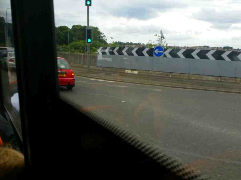 Junction of the A69 The A1 and the A186 West Road East Denton Newcastle Upon Tyne on a 685 Carlisle Newcastle bus