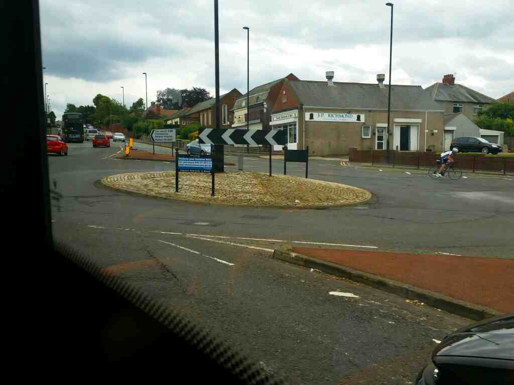 Junction of West Rd Silver Lonnen and Denton Rd Denton Burn Newcastle on a 685 Carlisle Newcastle bus