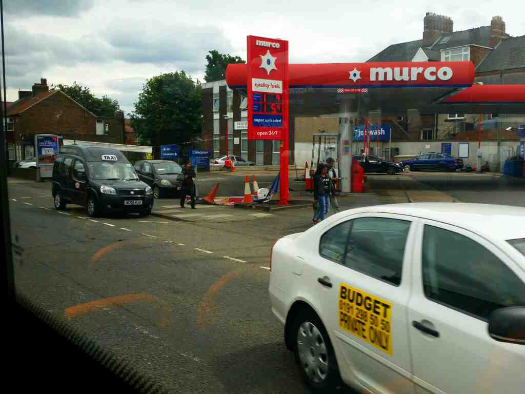 Murco Filling Station Westgate Rd Newcastle Upon Tyne on a 685 Carlisle Newcastle bus