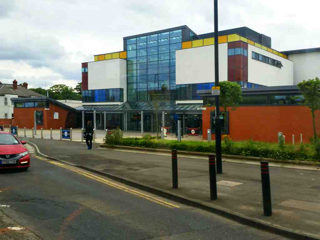 Passes the Beacon Business Centre as we head along Westgate Rd on a 685 Carlisle Newcastle bus