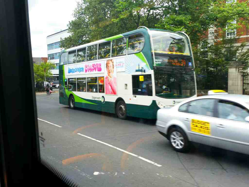 Passes a 39 bus on Westgate Rd on a 685 Carlisle Newcastle bus