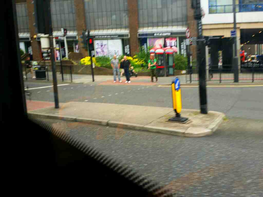 Junction of Gallowgate and Percy St Newcastle on a 685 Carlisle Newcastle bus