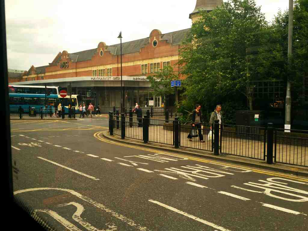Haymarket bus station from Percy St on a 685 Carlisle Newcastle bus