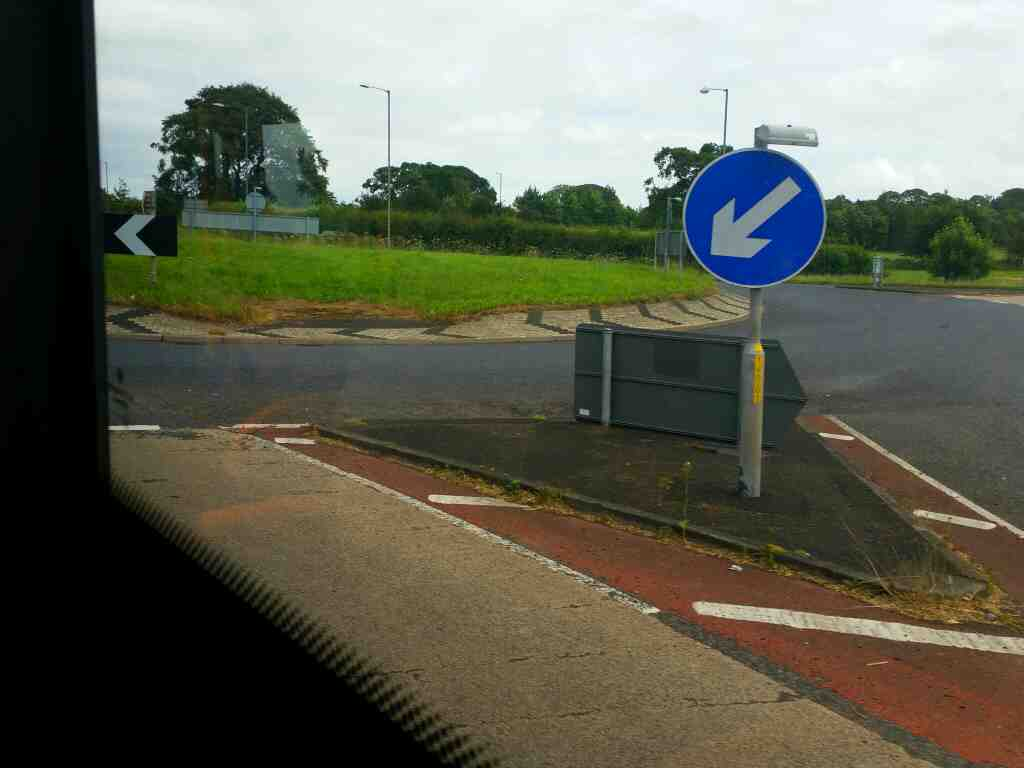 Junction of the A69, Greenhill and the A689 at the western end of the Brampton bypass on a 685 Carlisle Newcastle