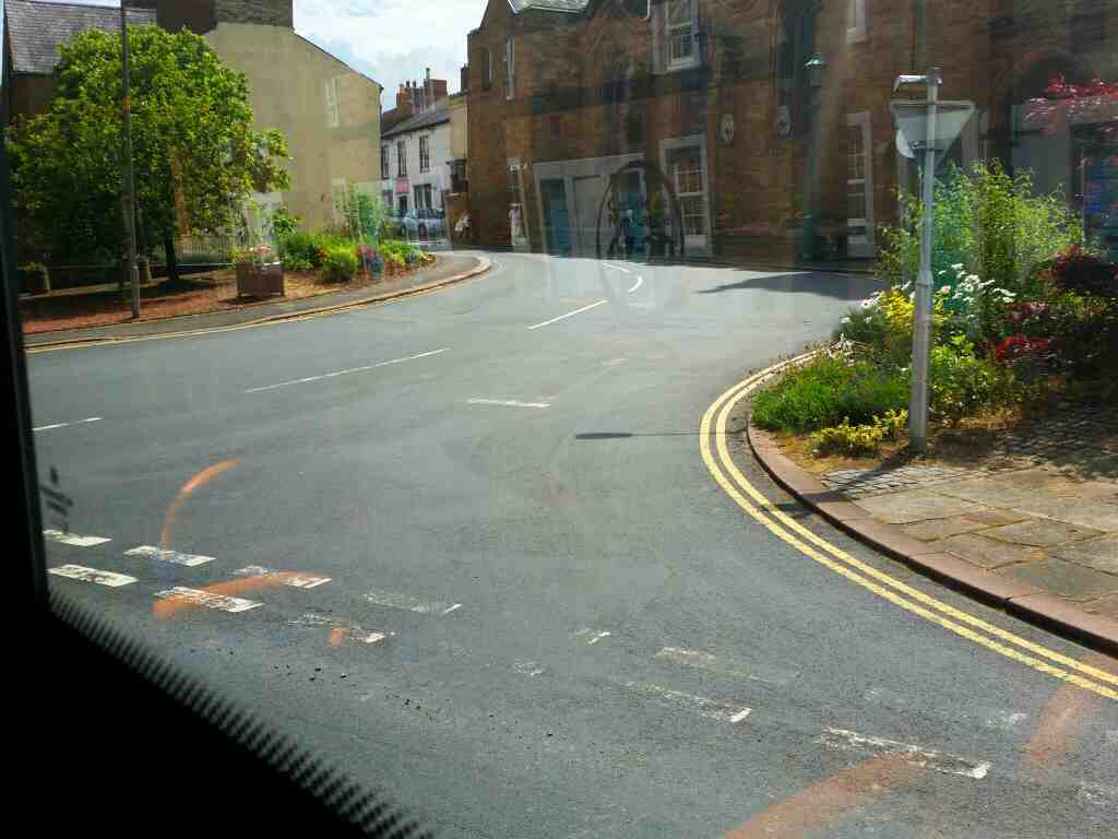 Junction of Carlisle Rd and Front Street Brampton on a 685 Carlisle Newcastle