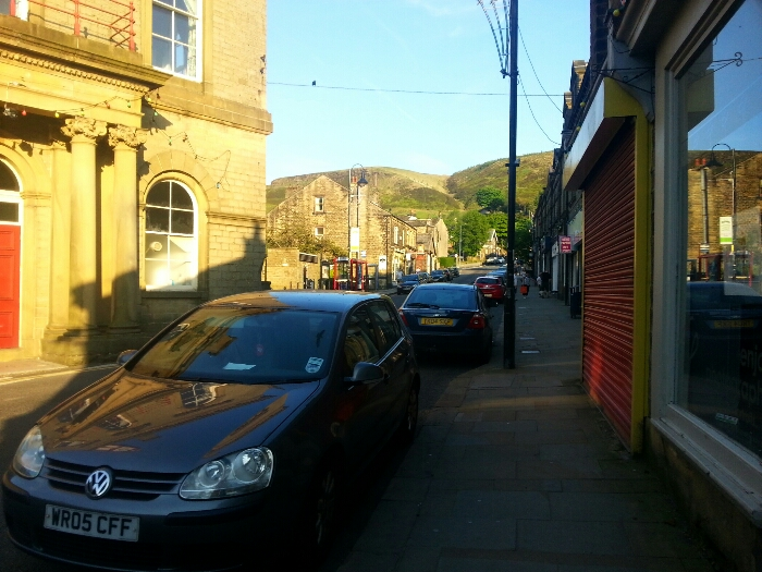 A beautiful summers evening in Marsden West Yorkshire