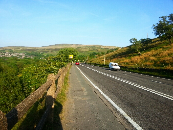 A62 above Marsden West Yorkshire