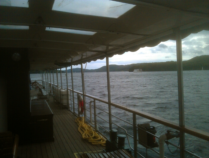 The deck of the Tern.