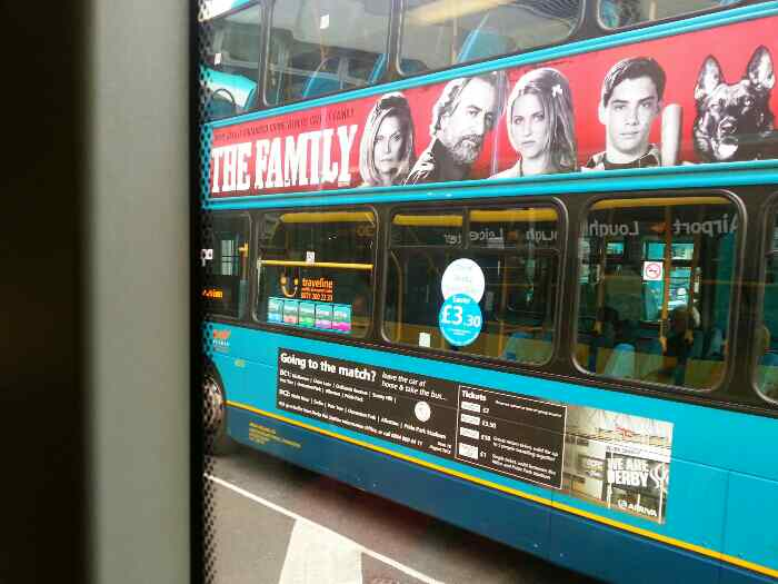 An Arriva bus Derby as we await departure for Leicester on a Skylink Bus