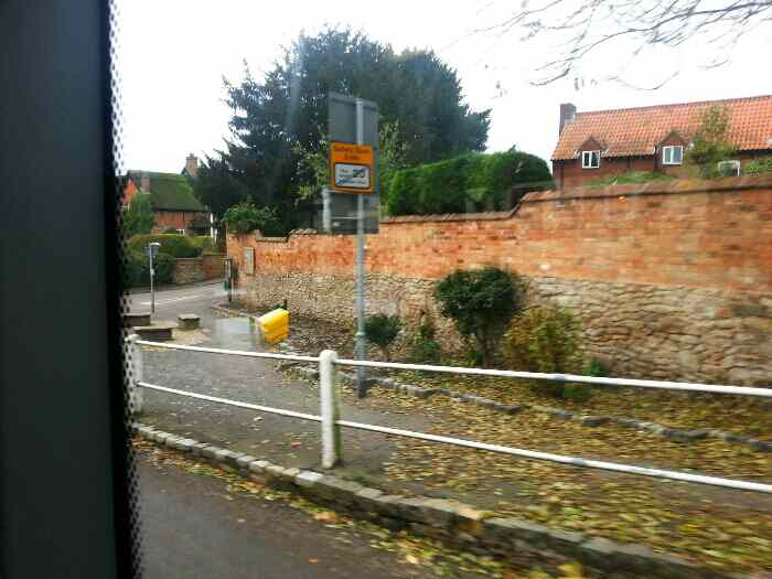 Junction of Hall Gate and Lady Gate Diseworth off a Skylink Bus