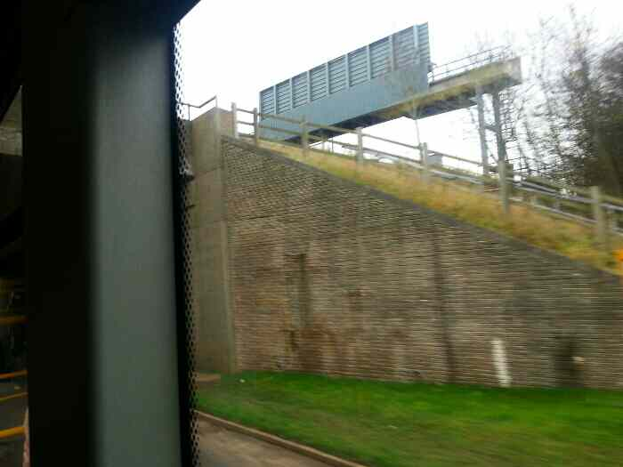 Passing under the M1 Motorway on West End Long Whatton