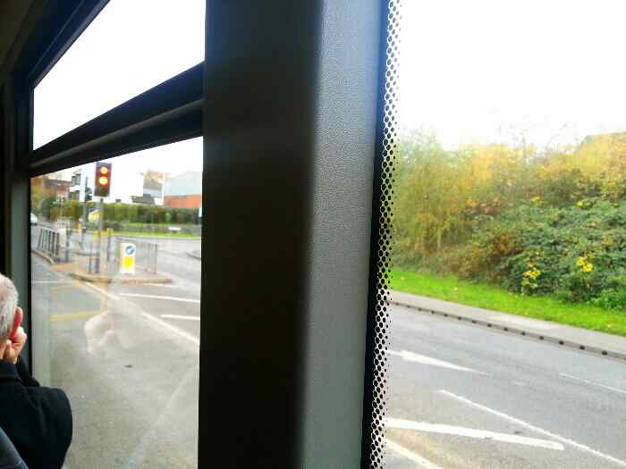 Passing the junction with Shepherd Rd and Loughborough Rd A6 on a Skylink Bus