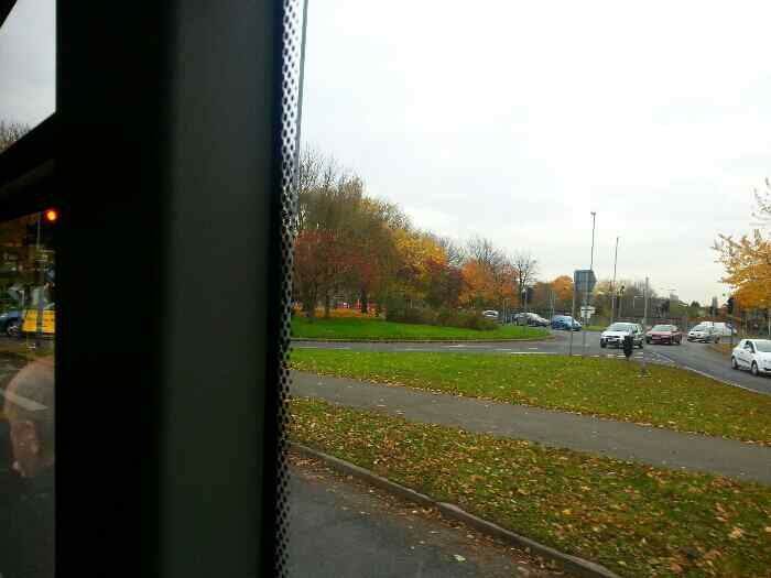 A Roundabout on the A6 Derby Rd just north of Loughborough