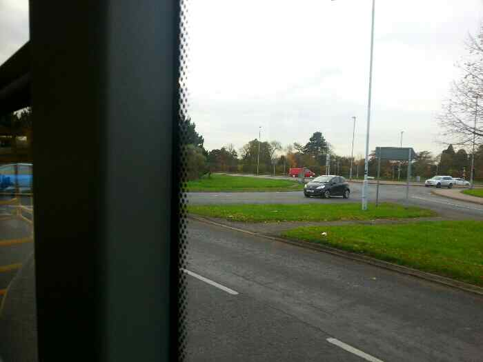 Approaching One Ash Roundabout on Loughborough Rd the A6