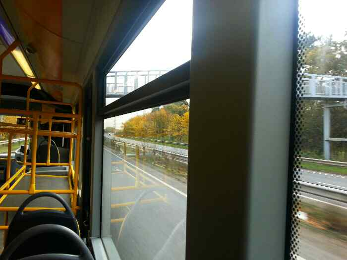 Further along the the Quorn, Mountsorrel, Rothley Bypass�A6 Leicestershire on a Skylink bus