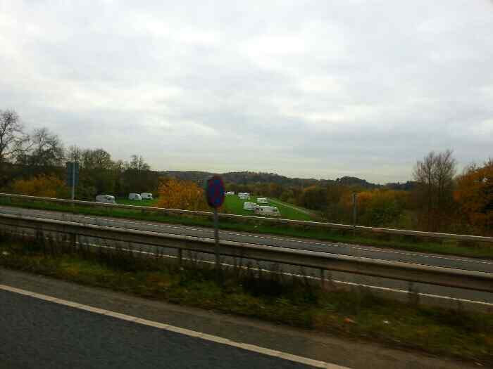 Passing the Barton Upon Soar Caravan Park on the the Quorn, Mountsorrel, Rothley Bypass�A6