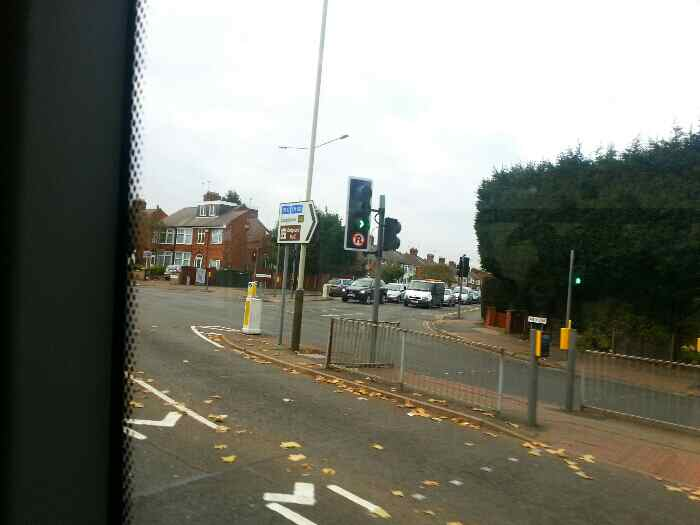 Junction of Abbey Lane A6 Leicester and Beaumont Leys Lane