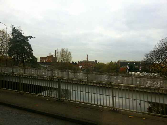 Crossing the River Soar on St Margaret's Way the A6 Leicester