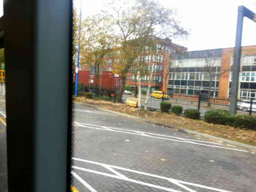 Turning into St Margaret's bus station Leicester off Abbey St on a Skylink Bus
