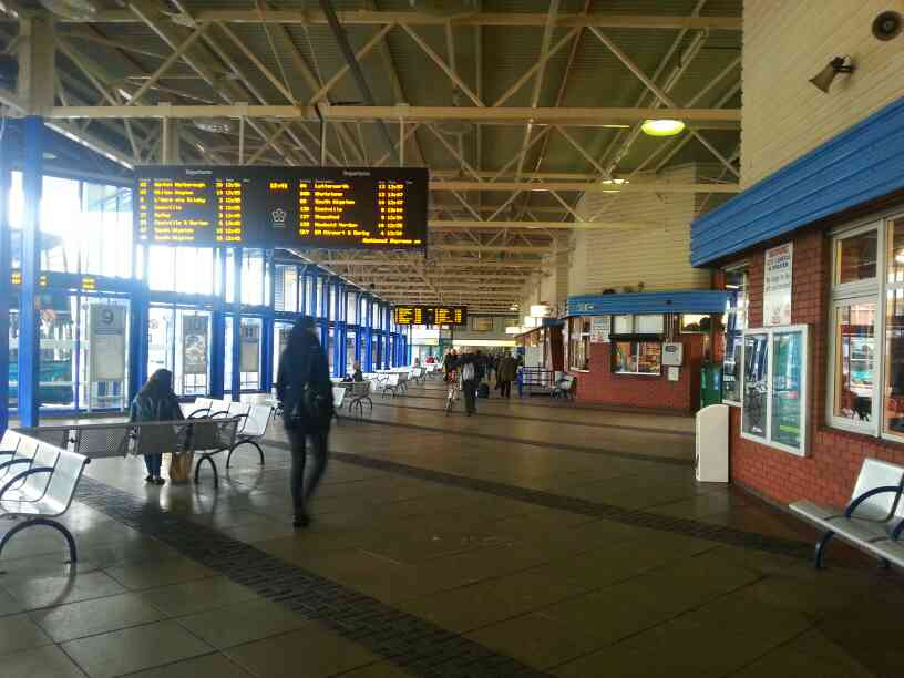 Inside St Margaret's bus station Leicester