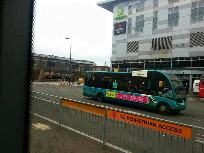 Heading out of Derby Bus Station