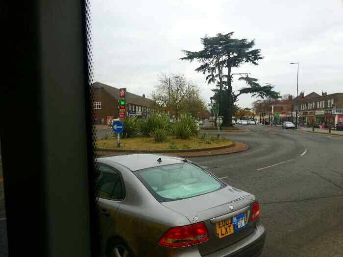 Roundabout.at end of London Rd Alvasston Derby