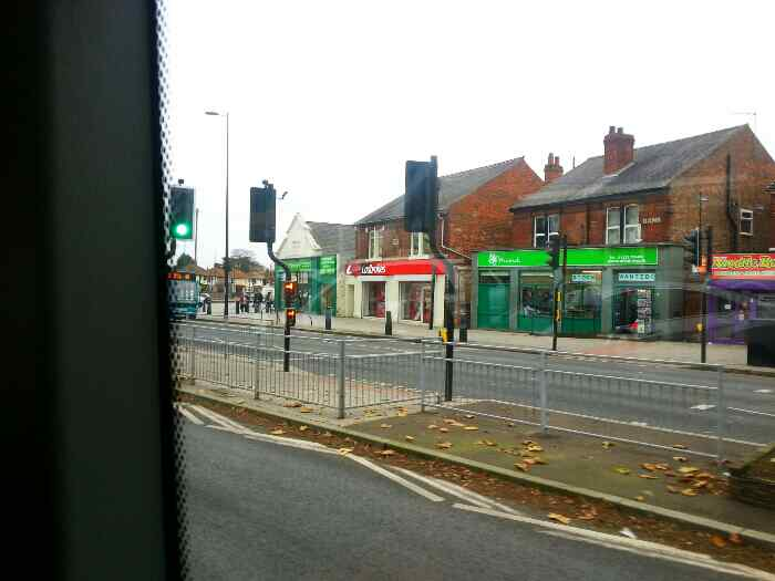 Alvaston from a Skylink bus