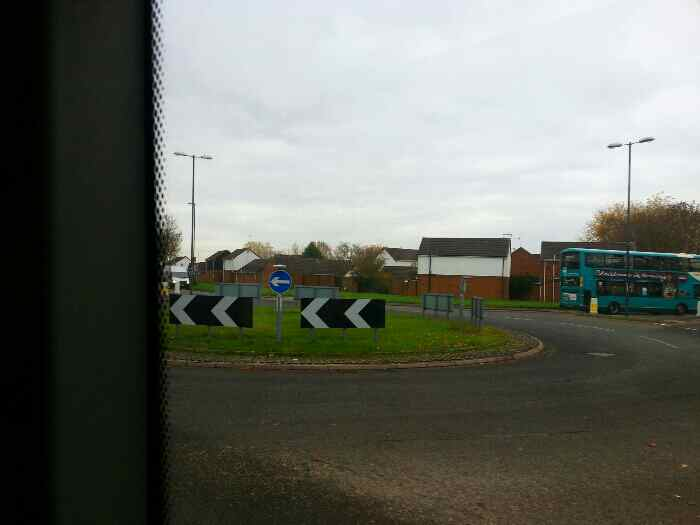 A roundabout on Shardlow Rd