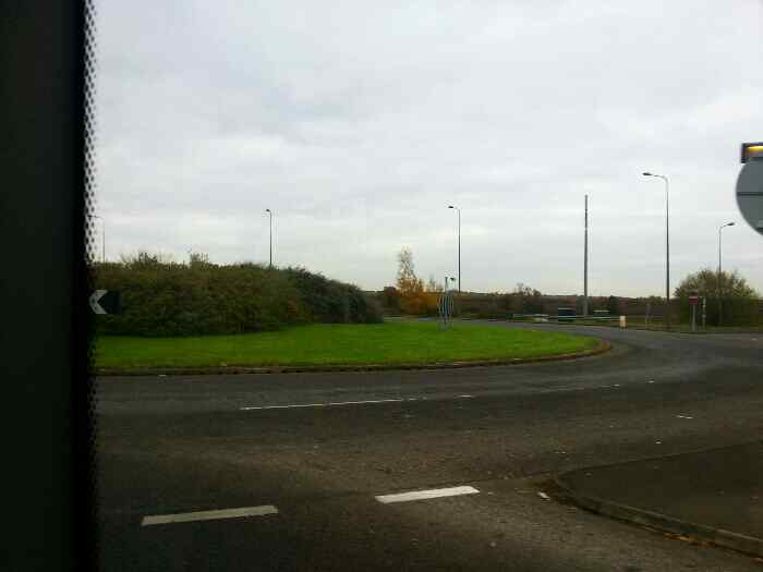 Roundabout near the A6 on Shardlow Rd