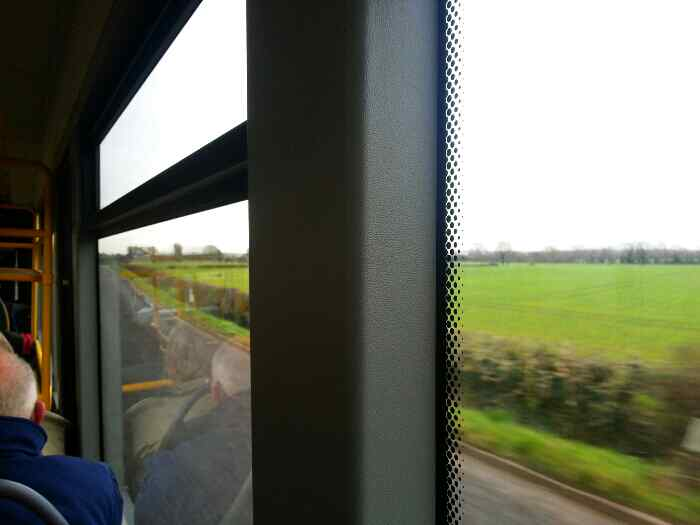 Heading for Shardlow on Skylink bus from Derby