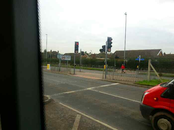 Roundabout A453 East Midlands Airport Cargo West