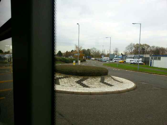 Roundabout Viscount Rd East Midlands Airport