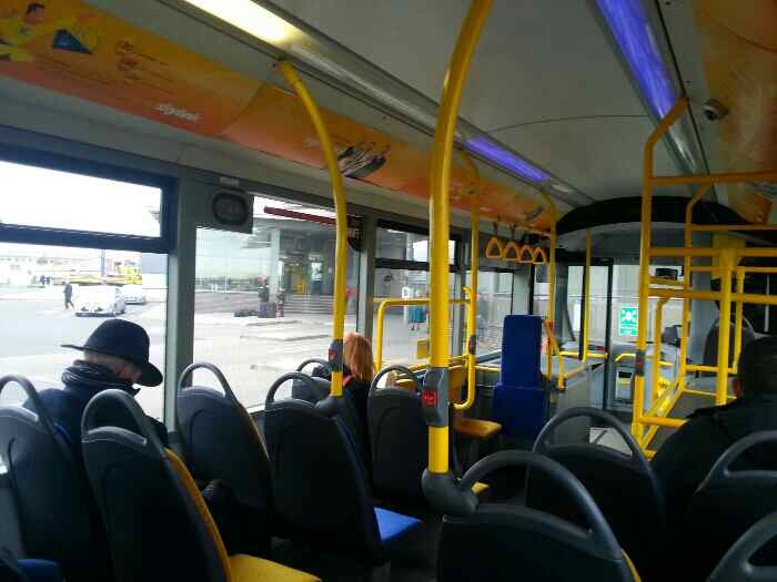 Awaiting Departure from East Midlands Airport Bus station on a Skylink Bus bound for Leicester