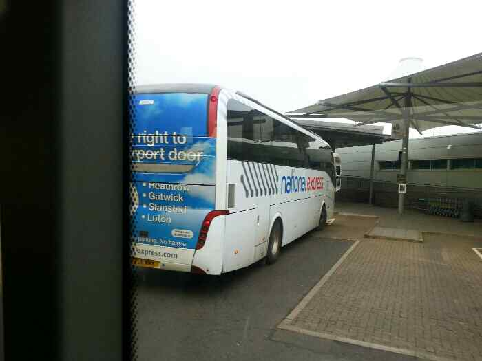 A National Express Coach East Midlands Airport bus station