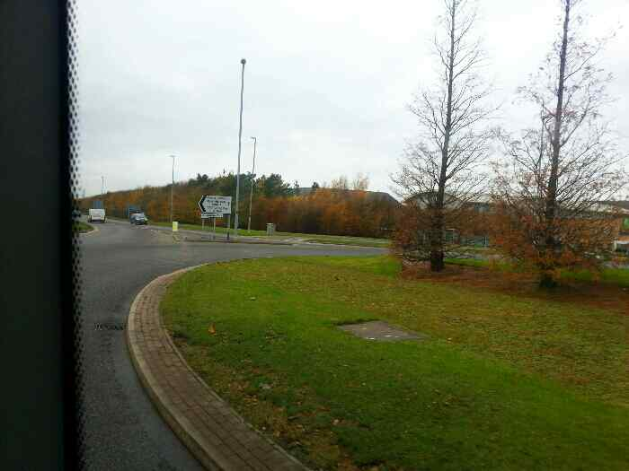 Roundabout on Ashby Rd East Midlands Airport