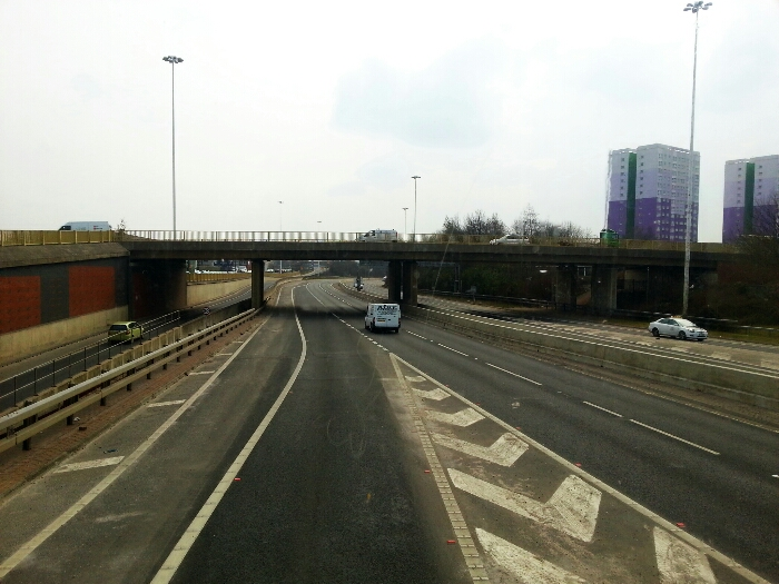 The Motorway out of Leeds.