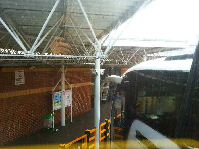 Waiting to leave Leeds coach station