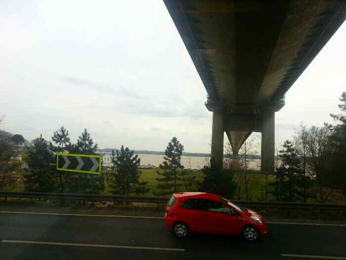 The underneath of the Humber Bridge