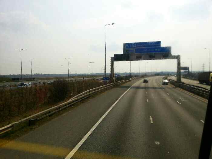 A1M runiing by the M62