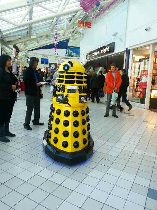 A lost and lonely Dalek in the Princes Shopping Centre Hull