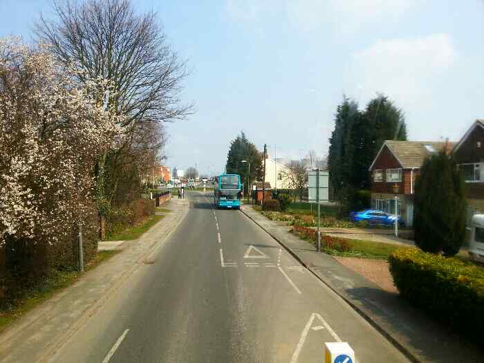 Approaching the Roundabout at Eggborough