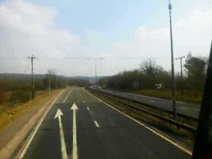 Leaving the A63 for Brough