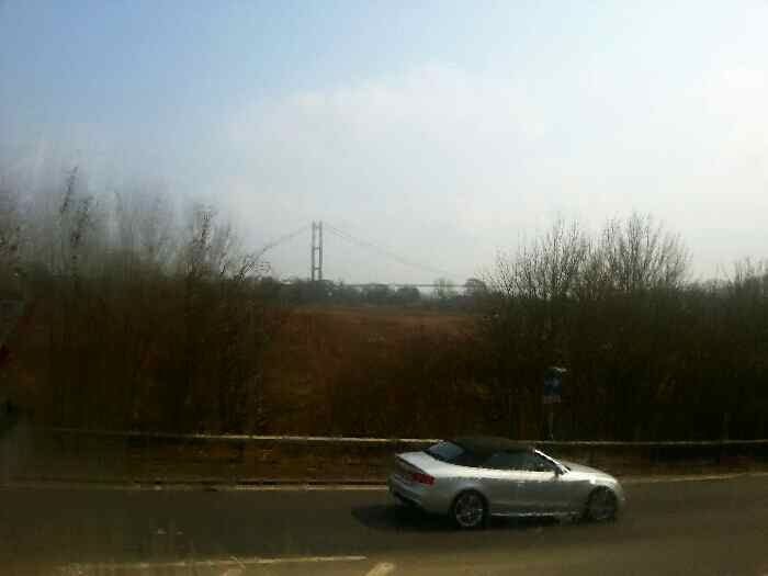 Heading Back to the A63 with the Humber Bridge in sight