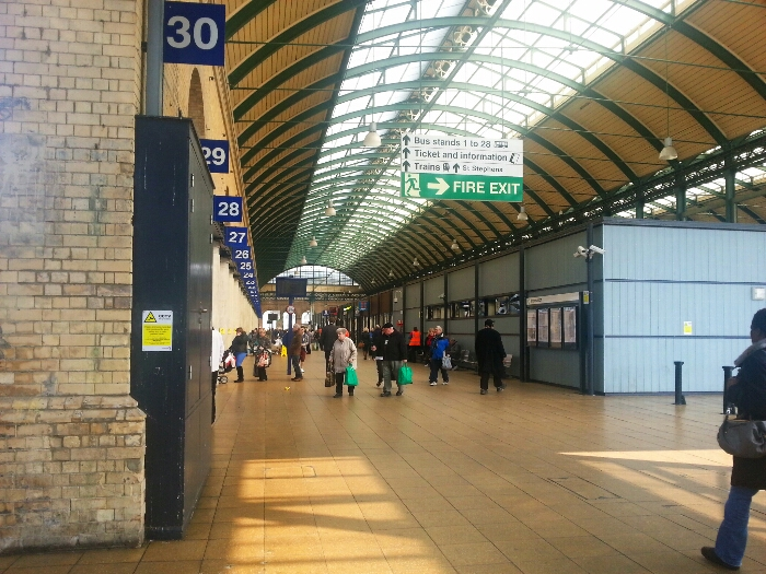 The interior of Hull Paragon Interchange