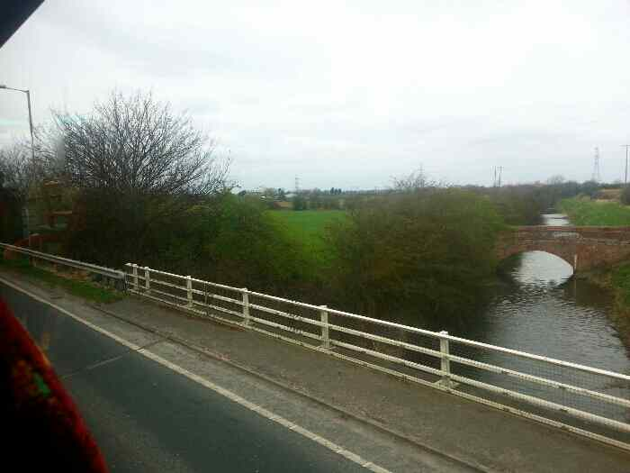 Crossing the Beverley and Barmston Drain on the A1079